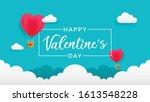 valentine's day banner template ...   Shutterstock .eps vector #1613548228