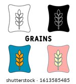 grains icon in different style...