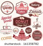 vintage retro bakery badges and ... | Shutterstock .eps vector #161358782
