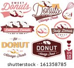 vintage retro donuts badges and ... | Shutterstock .eps vector #161358785