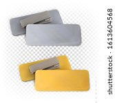 set of blank metallic gold and...   Shutterstock .eps vector #1613604568