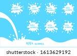 milk blot  cream drops and... | Shutterstock .eps vector #1613629192