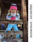 winter  apres ski   girl... | Shutterstock . vector #161363582