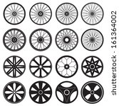 bicycle wheel  vector format | Shutterstock .eps vector #161364002