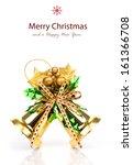 shiny golden christmas bells...   Shutterstock . vector #161366708