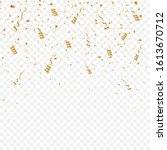 gold confetti background. party ... | Shutterstock .eps vector #1613670712