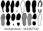 set of different footprints | Shutterstock .eps vector #161367722