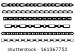 set of chains isolated on white | Shutterstock .eps vector #161367752