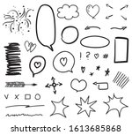 infographic elements isolated... | Shutterstock .eps vector #1613685868