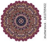 mandala  tracery wheel mehndi...   Shutterstock .eps vector #1613705422