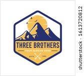 three mountain design  vintage... | Shutterstock .eps vector #1613720812