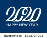 happy new year 2020... | Shutterstock .eps vector #1613724025