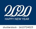 happy new year 2020... | Shutterstock .eps vector #1613724025