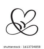 heart love sign logo. design... | Shutterstock .eps vector #1613734858
