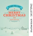 merry christmas greeting card... | Shutterstock .eps vector #161373962