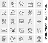 25 universal icons vector... | Shutterstock .eps vector #1613775982