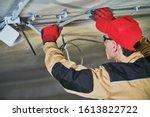 Electrician Service. Installer...