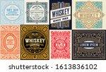 mega set of 8 vintage cards.... | Shutterstock .eps vector #1613836102