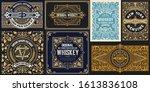 mega set of 8 vintage cards.... | Shutterstock .eps vector #1613836108
