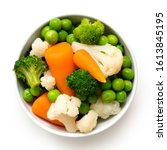 Mixed Vegetables In White...