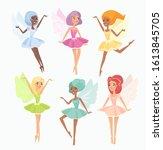 magic pixies flat vector...   Shutterstock .eps vector #1613845705