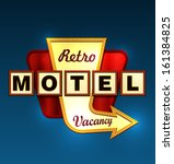 retro motel road sign with an... | Shutterstock .eps vector #161384825