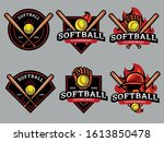 Set Of Softball Logo. Softball...