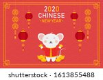chinese new year 2020... | Shutterstock .eps vector #1613855488