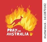 australia fire. social poster.... | Shutterstock .eps vector #1613870182