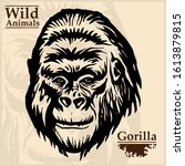 Gorilla Head Vector Graphic...