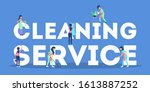cleaning service web banner...   Shutterstock .eps vector #1613887252