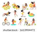 summer vacation activities set. ...   Shutterstock .eps vector #1613904472
