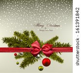 christmas background with fir... | Shutterstock .eps vector #161391842