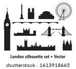 vector set of  landmarks of...   Shutterstock .eps vector #1613918665