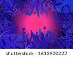bright mysterious rain forest ...   Shutterstock .eps vector #1613920222