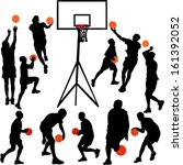 basketball players   vector | Shutterstock .eps vector #161392052