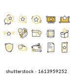loyalty line icons. bonus card  ... | Shutterstock .eps vector #1613959252
