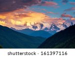 majestic colorful sunset in the ... | Shutterstock . vector #161397116