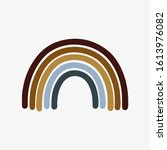 bohemian rainbow illustration... | Shutterstock .eps vector #1613976082