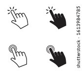 touch vector icons set.hand... | Shutterstock .eps vector #1613984785