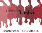 spilled colorful lip gloss with ... | Shutterstock .eps vector #1613986618