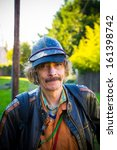 a man wears some interesting...   Shutterstock . vector #161398742