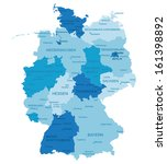 germany highly detailed map.all ... | Shutterstock .eps vector #161398892