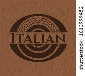 italian retro style wood emblem....   Shutterstock .eps vector #1613999452