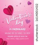 valentine's day celebration... | Shutterstock .eps vector #1614001432
