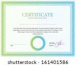 certificate. vector pattern... | Shutterstock .eps vector #161401586