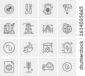 16 business universal icons... | Shutterstock .eps vector #1614035665