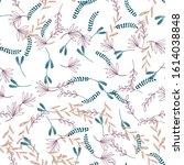 trendy outline native foliage... | Shutterstock .eps vector #1614038848