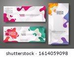 vertical and horizontal banner... | Shutterstock .eps vector #1614059098