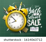back to school sale concept... | Shutterstock .eps vector #1614063712